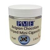 PME Belgian Chocolate Striped Mini Cigarellos 80g_