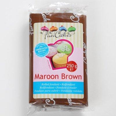 FunCakes Rolfondant Bruin -Maroon Brown- -250g-