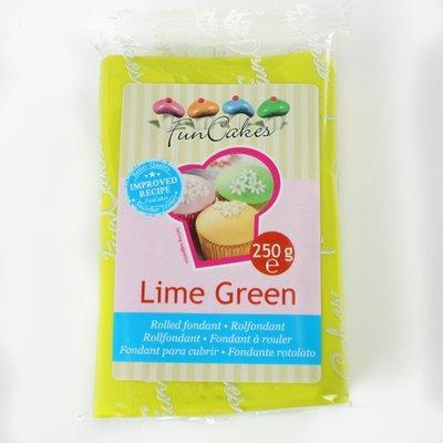 FunCakes Rolfondant Fel Groen -Lime Green- -250g-