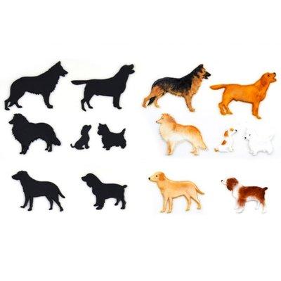 Patchwork Cutter Dog/ hond Silhouette set