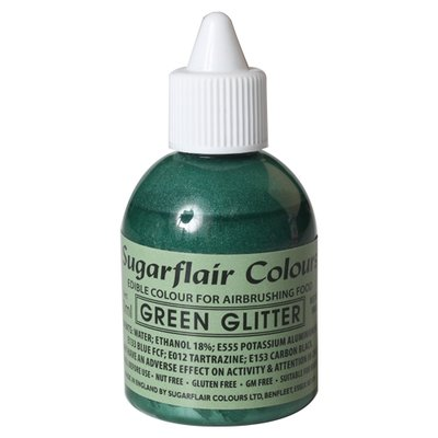 Sugarflair Airbrush Colouring -Glitter Green- 60 ml