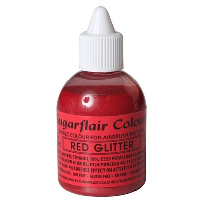 Sugarflair Airbrush Colouring -Glitter Red- 60 ml