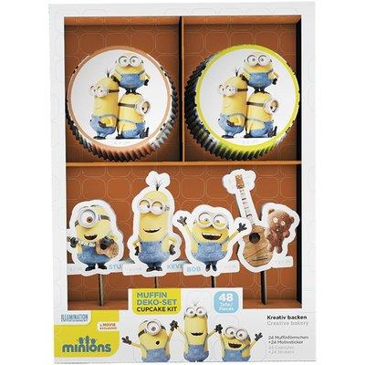 Cupcake Kit Minions 48 st