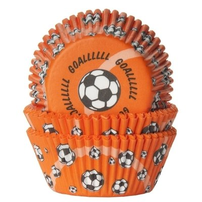 HOM Baking cups Voetbal Oranje- pk/24