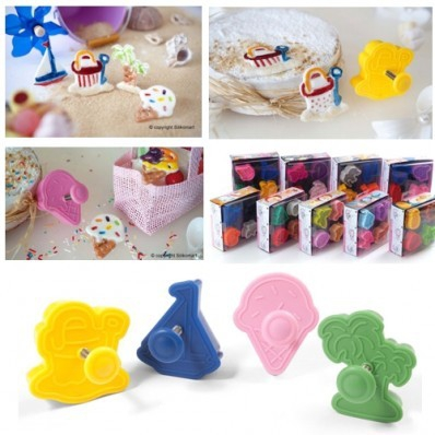 Silikomart Mini Cookie Cutters 'Zomer' set/4