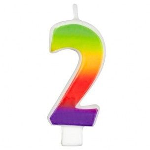 Wilton Candle Rainbow -2-