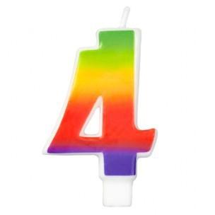 Wilton Candle Rainbow -4-
