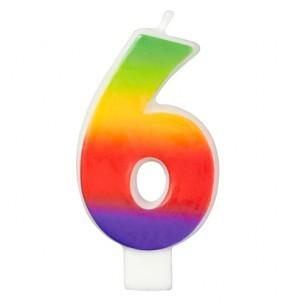 Wilton Candle Rainbow -6-