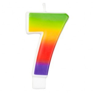 Wilton Candle Rainbow -7-