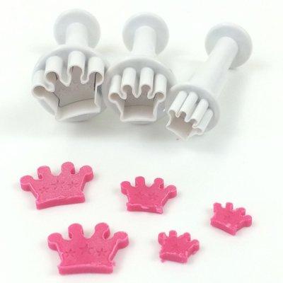 Dekofee Mini Plungers Crowns/Kroontjes set/3