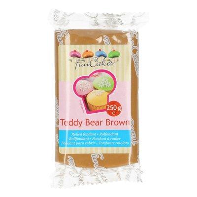 FunCakes Rolfondant -Teddy Bear Brown- 250g