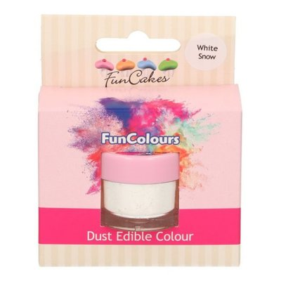 Funcakes Edible Funcolours Dust - White Snow