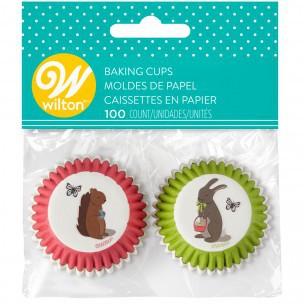 Wilton Mini Baking Cups Easter pk/100