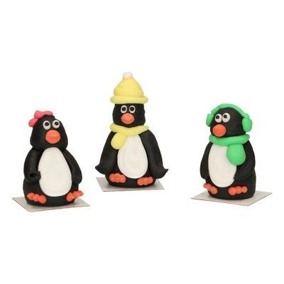 Funcakes Suikerdecoratie 3d PinguIn Set/3