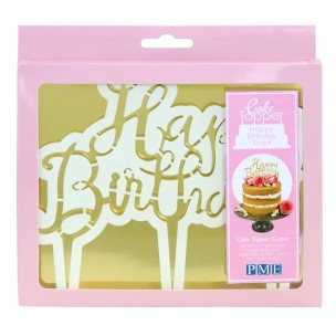 PME Cake Topper Cutter Happy Birthday - Script