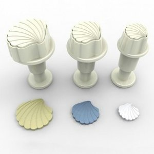 Dekofee Mini Plungers Shells set/3