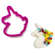 Decora Unicorn hoofd Cookie Cutter donkerroze
