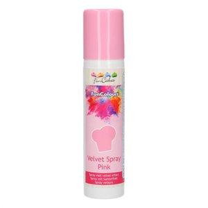 FunCakes FunColours Velvet Spray -Pink- 100ml